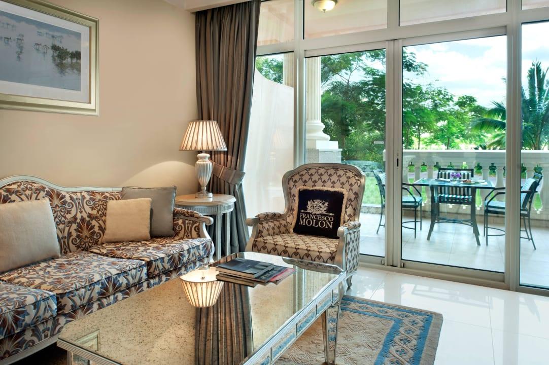 Palm 2 Bedroom Suite - living room Kempinski Hotel & Residences Palm Jumeirah
