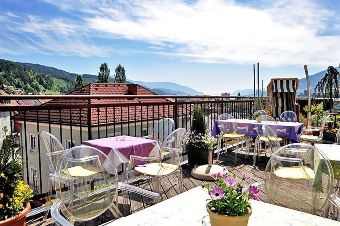 Dachterrasse - Bar Glashaus Hotel Erlebnis Post