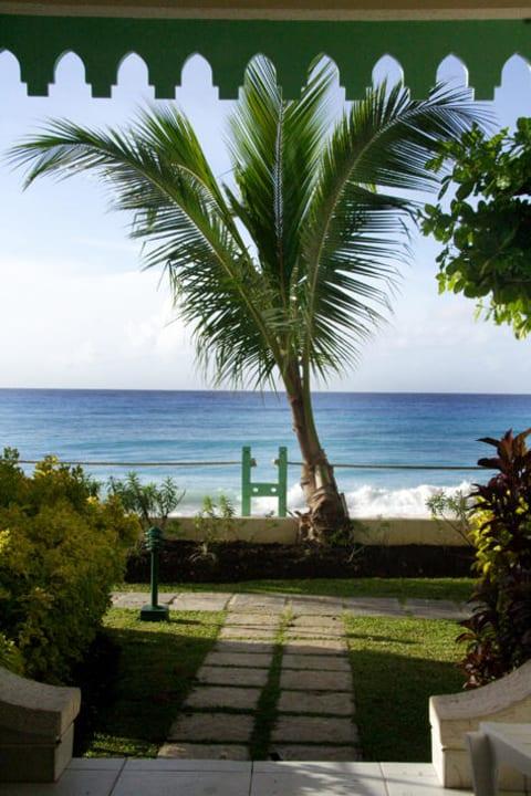 Blick aus unserem Zimmer Coral Mist Beach Hotel