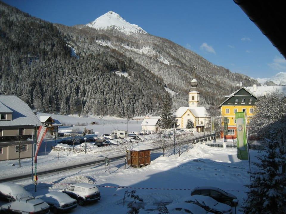 Schöner Blick auf die Berge Hotel Twengerhof