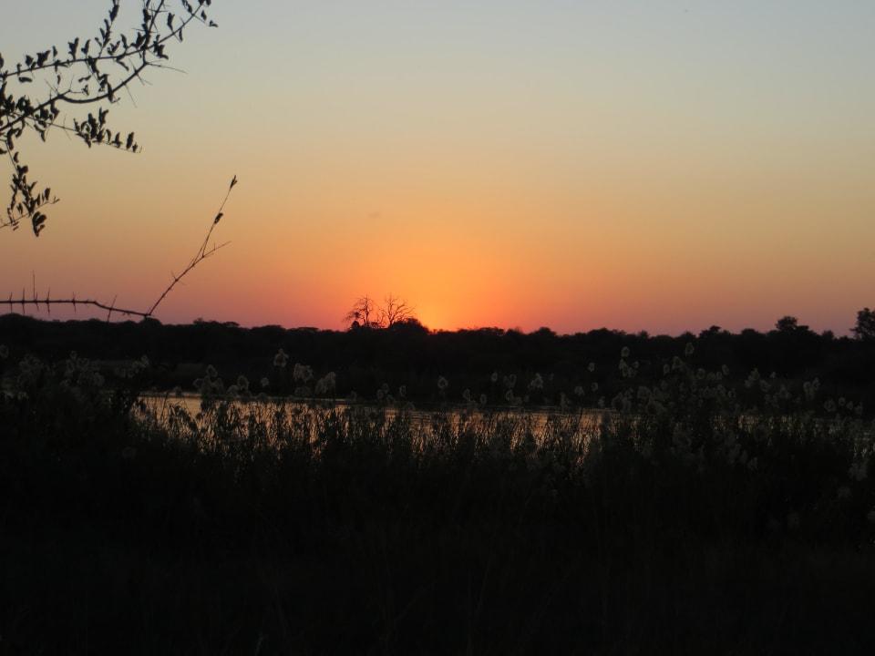 Sonnenuntergang Nunda River Lodge