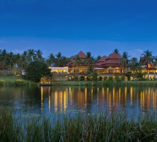 Gartenanlage mit Lagune Hotel Banyan Tree Phuket