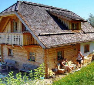 Almhütte im Sommer Almgasthof Baumschlagerberg