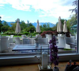 Frühstück mit Aussicht Hotel Alpenhof Murnau