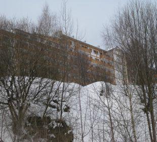 Ansicht vom Kabinenlift kommend Hotel Residence