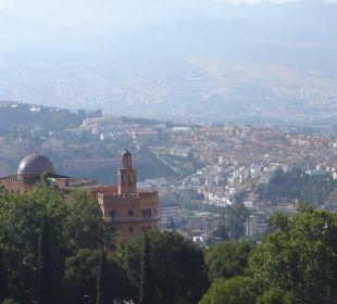 Das Alhambra Palace von der Alhambra aus gesehen Hotel Alhambra Palace