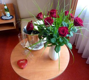 Zur Begrüzung in unserem Zimmer Hotel Bockelmann