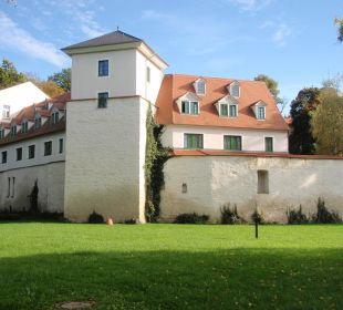 Ansicht der Wasserburg Hotel Schloss Schweinsburg