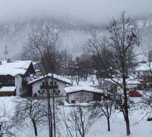 Blick vom Balkon Gästehaus Flora
