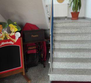 Aufgang zur Rezeption Hotel Bayerischer Wald