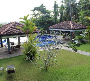 Blick vom Pavilon Amal Villa