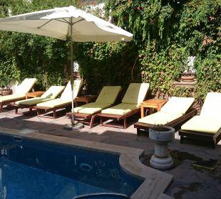 Liegestühle am Pool Aspen Hotel