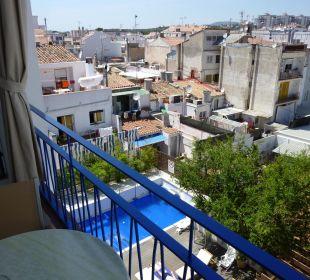Blick vom Balkon  Hotel Platjador