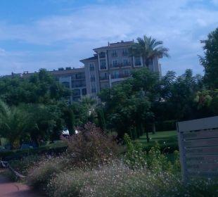 Hintere Ansicht vom Garten aus Sunis Elita Beach Resort