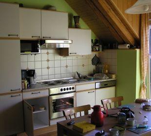 Küche unserer Ferienwohnung Ferienhof Eulennest