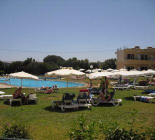 Unser Ausblick auf den Pool Hotel Princess Flora