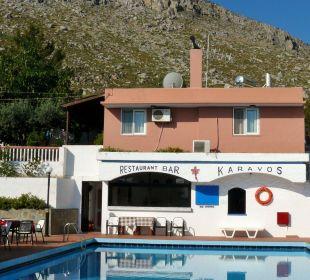 Taverne mit Pool Hotel Karavos
