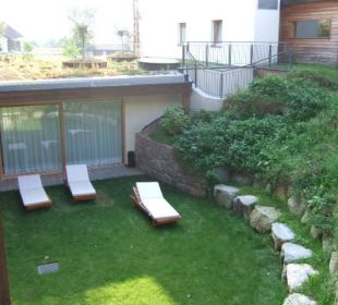 Garten im Saunabereich Hotel Schwarzschmied