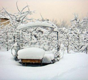 Garten im Winterkleid Haus Schuchter