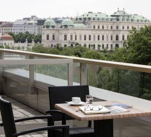 Terrasse Ausblick Austria Trend Hotel Savoyen Vienna