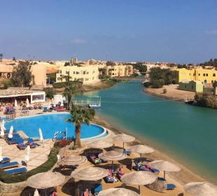 Aussicht vom Dach. Arena Inn Hotel, El Gouna