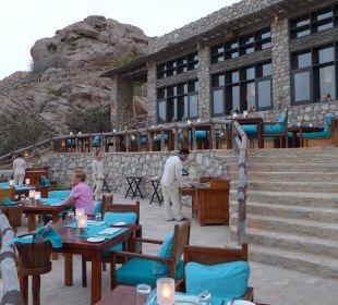 "Restaurant ""On the Edge"" auf 300 Meter über Meer Six Senses Spa At Zighy Bay"