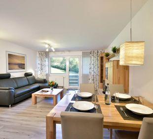 Wohnzimmer u. Essecke Premiumappartement Die Gams Hotel - Resort