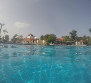 Der saubere Pool. Dank Fußball EM 16 war er leer. Hotel BlueBay Villas Doradas Adults Only
