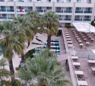 Blik vom Balkon Hotel Turunc