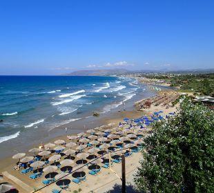 Strand von Zimmer gesehen Hotel Corissia Princess