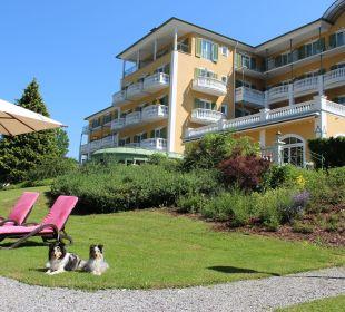 Gartenanlage mit meinen Reisebegleitern Grand Park Hotel Health & Spa