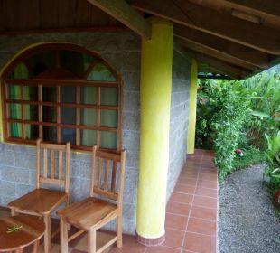 Terrasse vom Bungalow