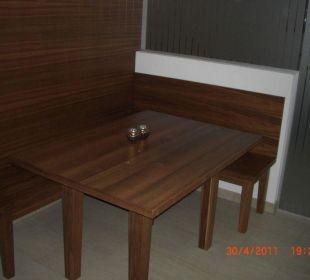 Sitzplatz in der Sauna Hotel Garni Alpenstern