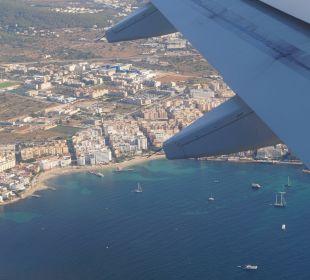 Bucht und Hotel  Hotel Ibiza Playa