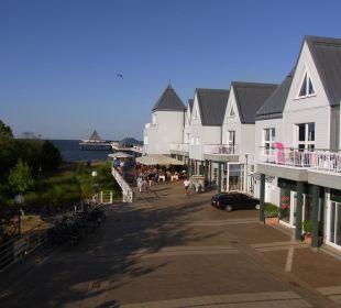 Ausblick von der Terrasse Ferienwohnungen Kaiservillen - Ferienwohnungen Seebrücke