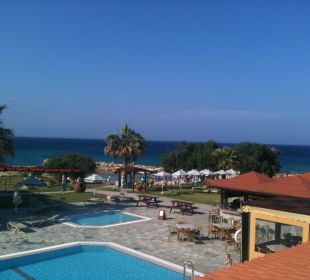 Sicht vom Restaurant aus Hotel Mimosa Beach