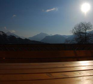 Die letzten Sonnenstrahlen  Alpengasthof Enzianhof