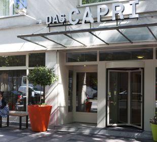 Verena in ihrer Oase am Eingang zum Capri Das Capri.Ihr Wiener Hotel