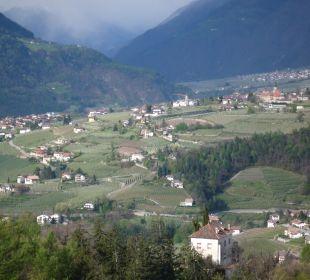 Vom Balkon nach Dorf Tirol Hotel Grafenstein