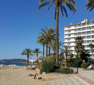 Seitenansicht / Zimmer mit seitlichem Meerblick Hotel Ibiza Playa