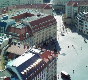 Hotelansicht vom Turm der Frauenkirche Steigenberger Hotel de Saxe