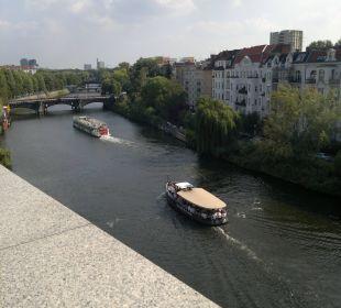 Aussicht vom Balkon Ameron Hotel Abion Spreebogen Waterside Berlin