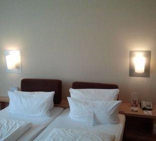 Twinbett mit wirklich guten Matratzen Hotel centrovital