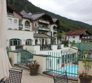 Von der Terrasse aus Leading Family Hotel & Resort Alpenrose