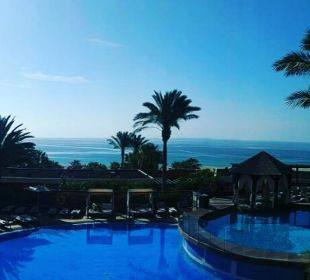 Ausblick morgens auf den Premiumbereich Hotel Barceló Jandia Club Premium