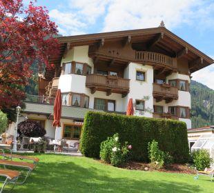 Blick vom Pool Olympia Relax Hotel Leonhard Stock