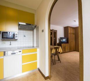 Küche und Wohnzimmer Rudlerhof Rudlerhof & Chalet Rudana