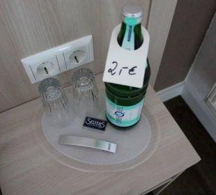 Überteuertes Wasser im Zimmer... Businesshotel Berlin