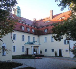 Wasserburg, Eingang Restaurant Hotel Schloss Schweinsburg