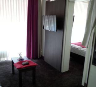 Wohnraum Blick ins Schlafzimmer Mirabell München